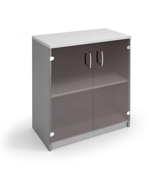 Шкаф низкий со стеклянными дверями
