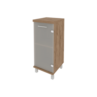 Шкаф низкий узкий со стеклом KSU-3.2пр  401*432*958