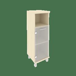 Шкаф средний узкий со стеклом KSU-2.2лев  401*432*1260
