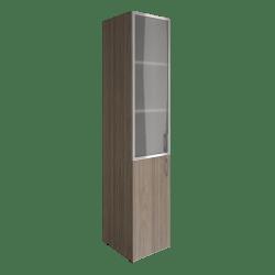 Шкаф узкий со стеклом в раме  LT-SU 1.2Rлев  400х450х1990