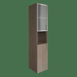 Шкаф узкий со стеклом в раме  LT-SU 1.4Rлев  400х450х1990