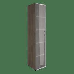 Шкаф узкий со стеклом в раме  LT-SU 1.10Rлев  400х450х1990